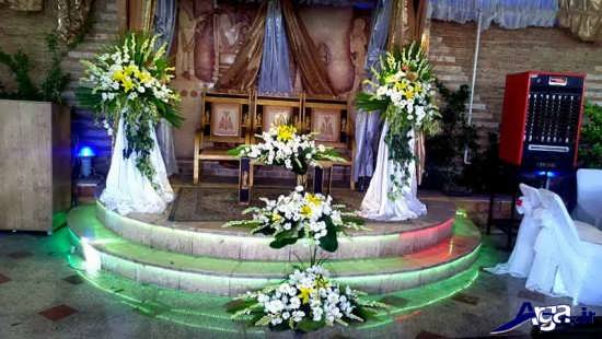 تزیینات زیبا و متفاوت جایگاه عروس و داماد