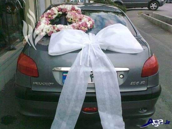 تزیین ساده و زیبای ماشین عروس