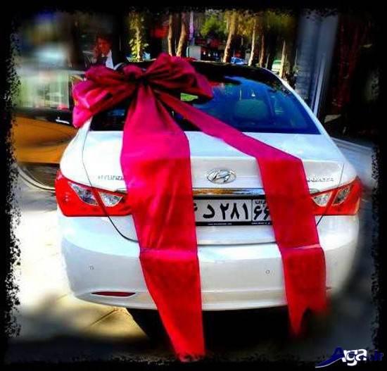 تزیینات زیبای ماشین عروس