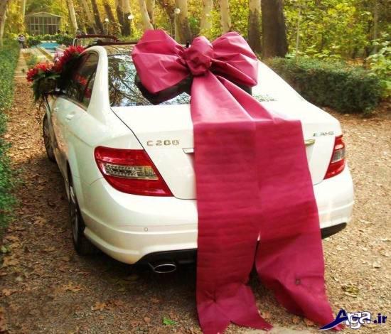 مدل ماشین عروس با تزیین زیبا