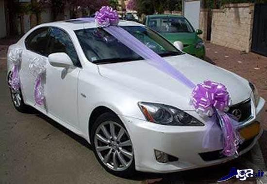 تزینی ماشین عروس ایرانی با پاپیون
