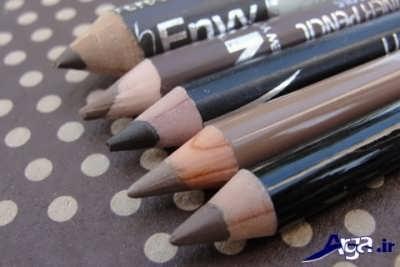 رنگ های مختلف مداد ابرو