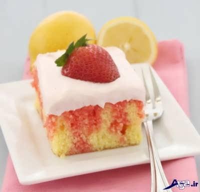 طرز تهیه کیک با ژله