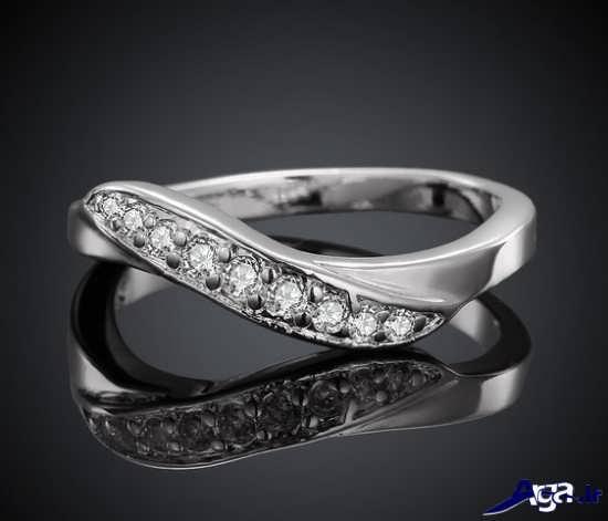 حلقه نقره ایی زنانه