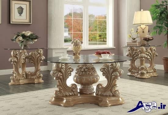 مدل میز عسلی سلطنتی با طرح زیبا