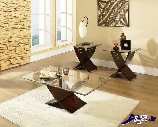 مدل میز چوبی عسلی