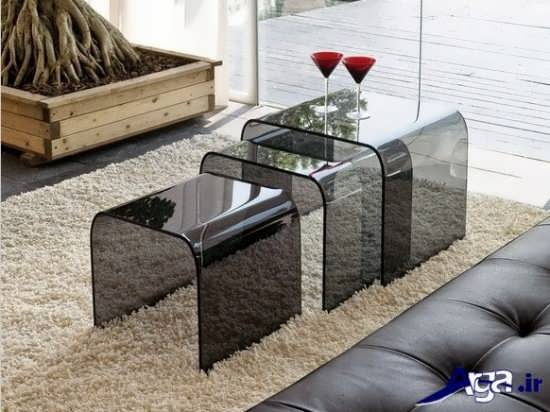 مدل میز شیشه ای عسلی