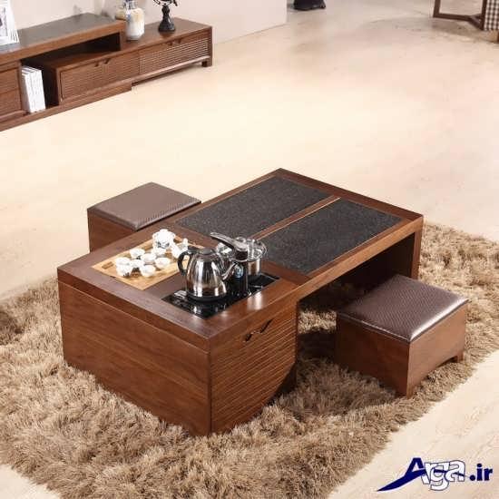 مدل میز چوبی