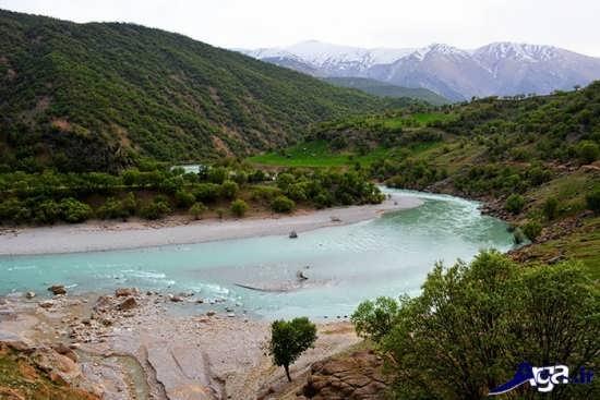 عکس رودخانه زیبا ی بازفت