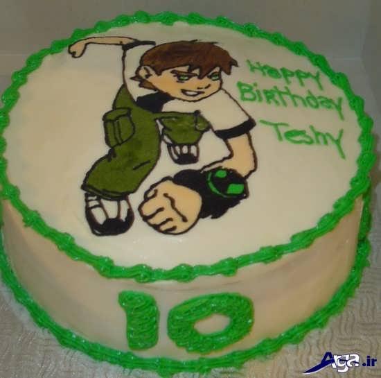کیک تولد پسرانه با عکس بن تن
