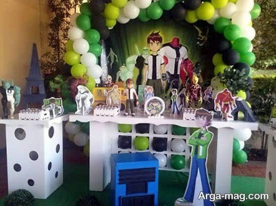 دیزاین متفاوت جشن تولد پسرانه با طرح بن تن