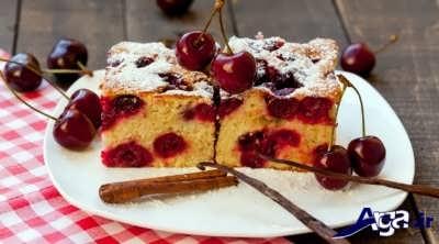 طرز تهیه کیک گیلاس خوش طعم