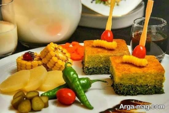 تزیین کوکو سبزی