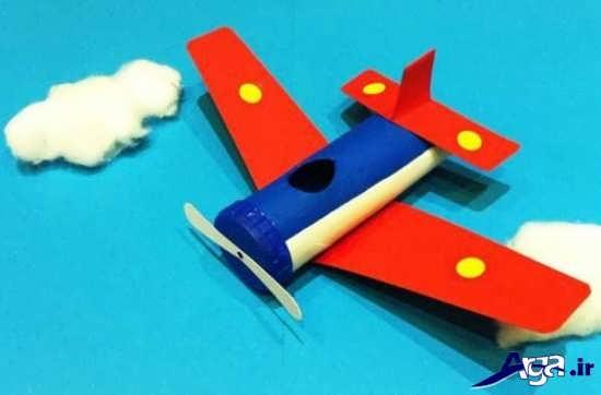 ساخت هواپیما با رول دستمال کاغذی