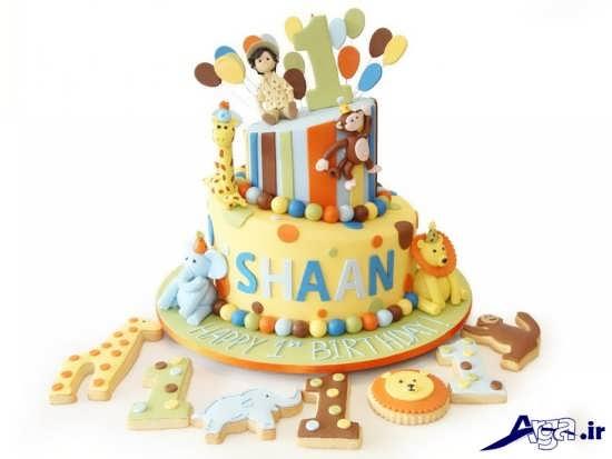 عکس کیک تولد بچه گانه