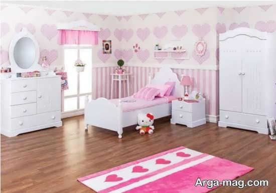 تزیین اتاق خواب دخترانه صورتی
