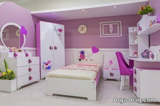 تزیینات شیک اتاق خواب دخترانه