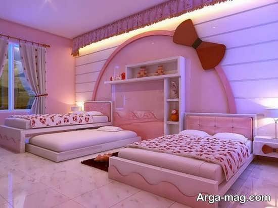 تزیینات اتاق خواب دخترانه جذاب