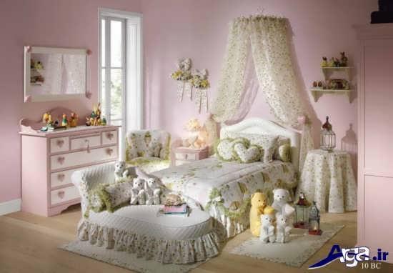 تزیین شیک و زیبای اتاق خواب دخترانه