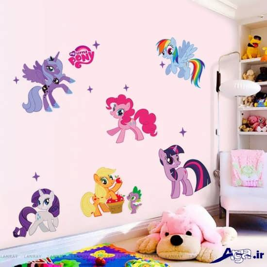 نقاشی روی دیوار اتاق خواب دخترانه