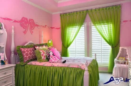 چیدمان اتاق خواب دخترانه زیبا