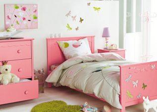 تزیین اتاق خواب دخترانه شیک و زیبا