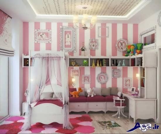 دیزاین اتاق دخترانه زیبا