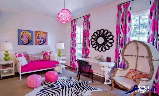 تزیین ساده اتاق خواب دخترانه