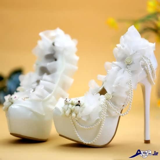 تزیین کفش با تور و مروارید