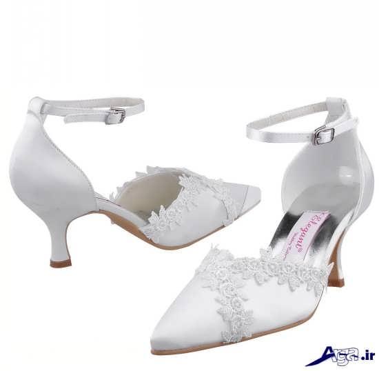 دیزاین کفش عروس با تور