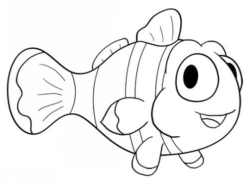 آموزش کشیدن نقاشی کارتونی ماهی