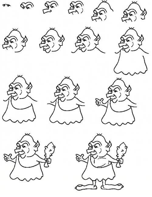آموزش نقاشی زیبا کارتونی