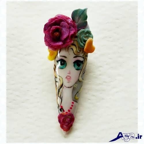 طراحی ناخن عروسکی دخترانه