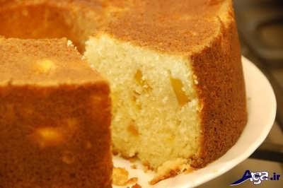 کیک میوه ای ساده