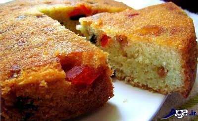 کیک میوه ای خوشمزه