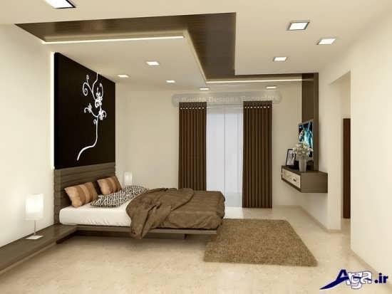 طرح جدید کناف سقف اتاق خواب