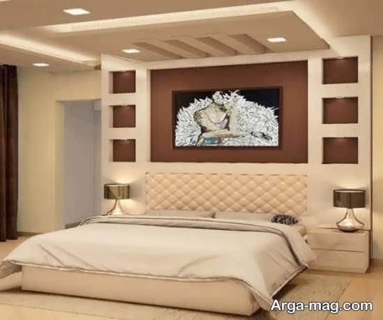کناف اتاق خواب با طراحی شیک
