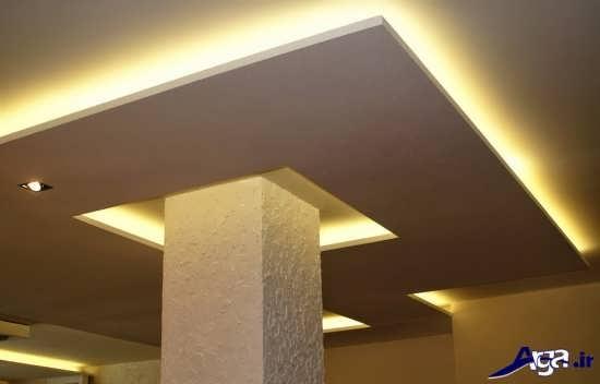 طرح کناف سقف اتاق خواب یا سقف کاذب