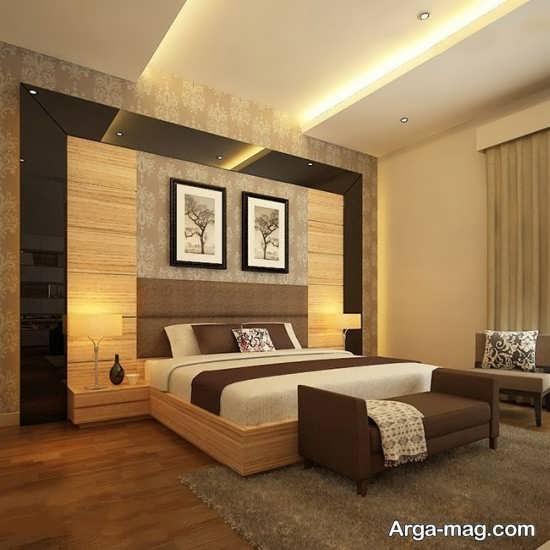 کناف اتاق خواب با طراحی متفاوت