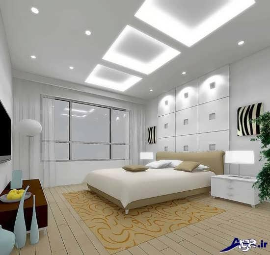 طرح زیبای کناف برای سقف اتاق خواب