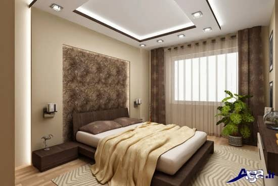 طرح کناف زیبا و جدید برای سقف اتاق خواب