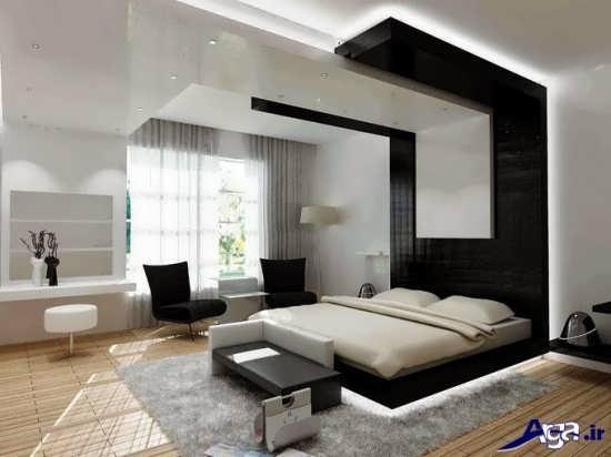 کناف سقف اتاق خواب با طرحی جدید