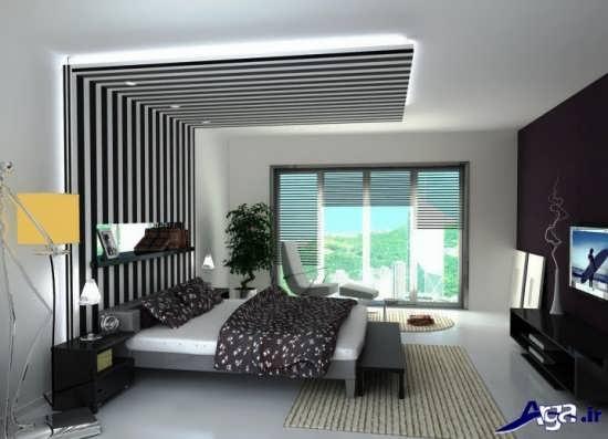 طرح های کناف برای سقف اتاق خواب