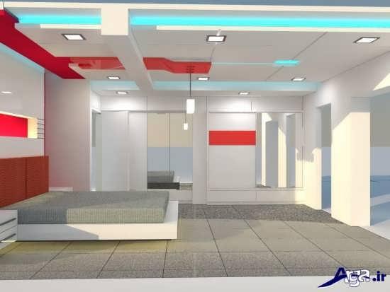 طرح های جدید کناف سقف اتاق خواب