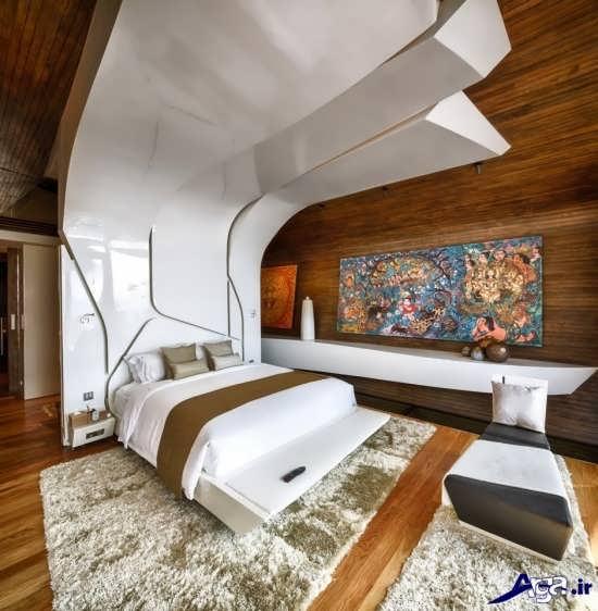 طرح کناف زیبا برای سقف اتاق خواب