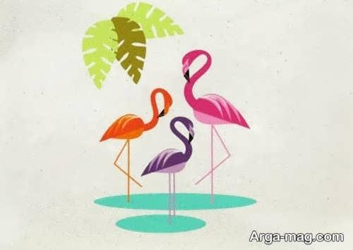 طراحی دوست داشتنی پرنده لک لک