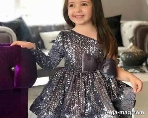 لباس مجلسی ایده آل بچه گانه با پارچه لمه