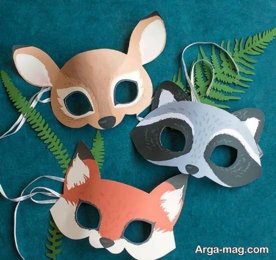 ساخت صورتک حیوانات زیبا