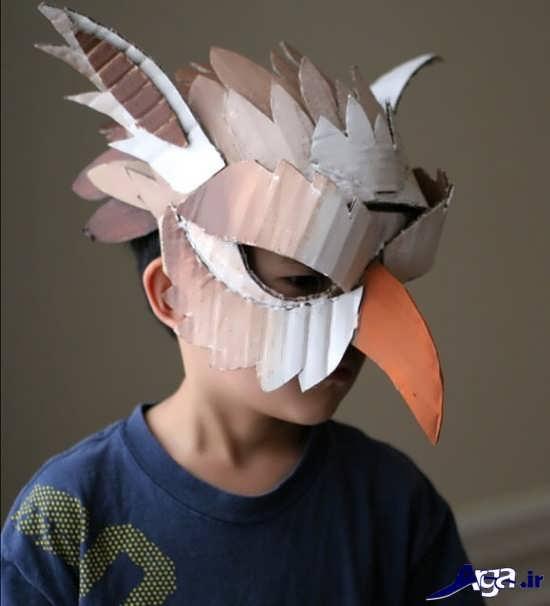 ساخت ماسک با مقوا و کارتن