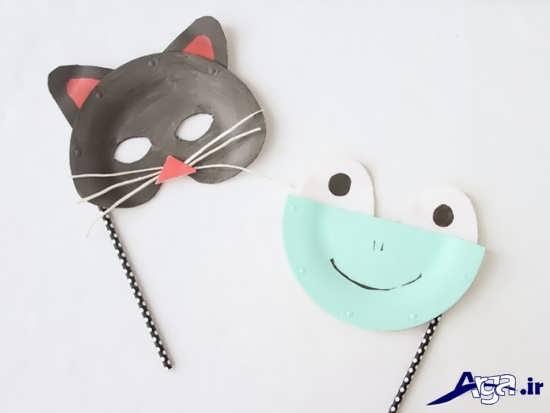 ساخت ماسک کودکانه با بشقاب یکبار مصرف